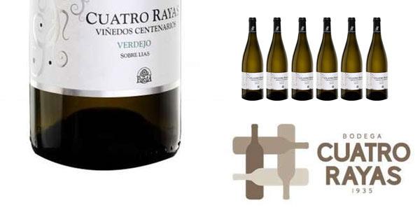 Pack x 6 botellas vino blanco Verdejo D.O Rueda Cuatro Rayas Viñedos Centenarios Agrícola Castellana oferta Amazon