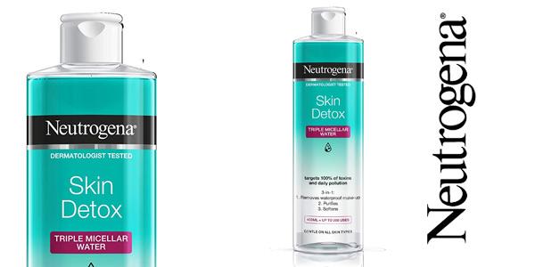Agua Micelar Triple Neutrogena Skin Detox de 400 ml barata en Amazon