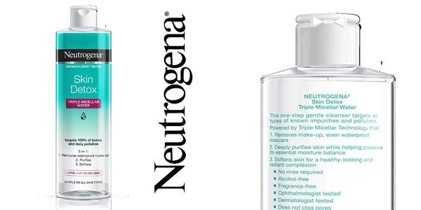 Agua Micelar Triple Neutrogena Skin Detox de 400 ml chollo en Amazon