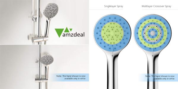 Alcachofa de ducha Amzdeal con 5 modos chollo en Amazon