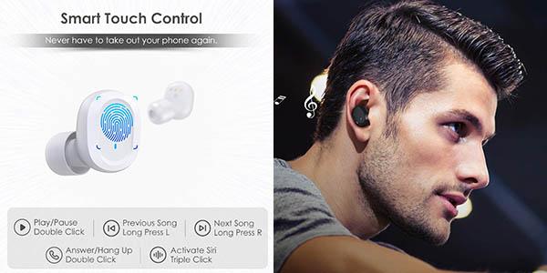Auriculares inalámbricos HolyHigh TWS S3 con escuche de carga barato