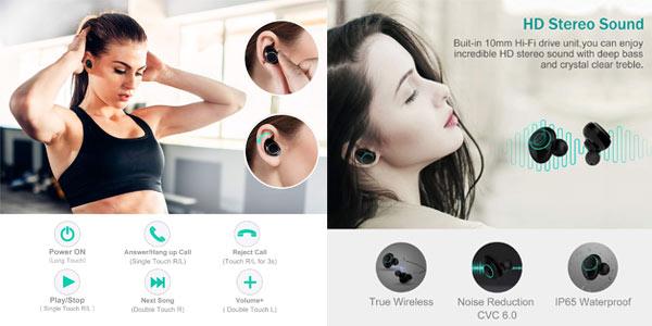 Auriculares inalámbricos TWs Bluetooth 5.0 Arbily a buen precio en Amazon