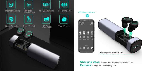 Auriculares inalámbricos TWs Bluetooth 5.0 Arbily en oferta en Amazon