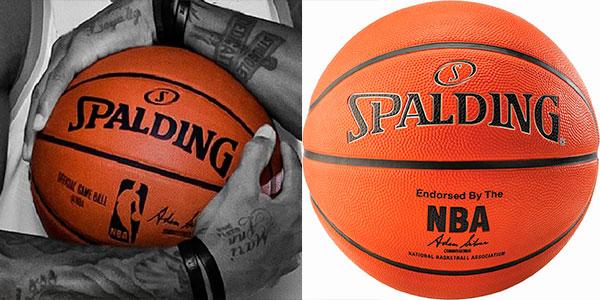 Balón de baloncesto Spalding NBA Silver Outdoor barato