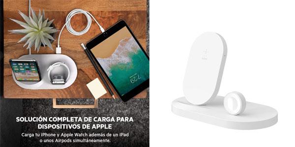 Base de carga inalámbrica Belkin Boost Up para iPhone y Apple Watch a buen precio en Amazon