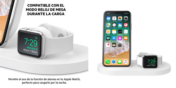 Base de carga inalámbrica Belkin Boost Up para iPhone y Apple Watch en oferta en Amazon