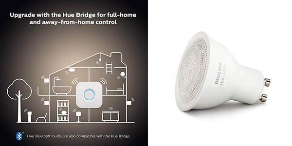 bombilla inteligente Philips Hue GU10 LED oferta