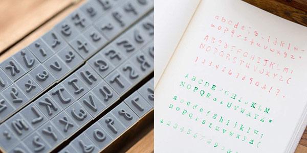 Caja de sellos de madera Aibecy con alfabeto inglés chollazo en Amazon