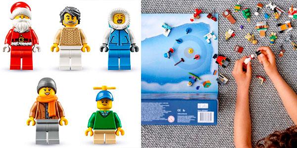 Calendario de Adviento 2019 de LEGO City Town con 7 minifiguras barato