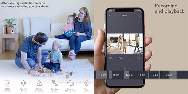 cámara Nooie de seguridad con aplicación móvil y relación calidad-precio estupenda