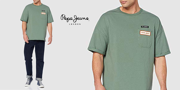 Camiseta Pepe Jeans Maltoni para hombre barata en Amazon