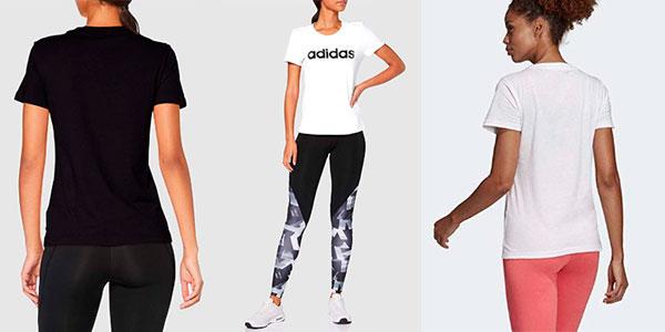 Camiseta Adidas Essentials Linear para mujer barata
