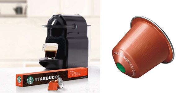 Pack cápsulas de café Starbucks SIngle Origin Colombia Nespresso en oferta en Amazon