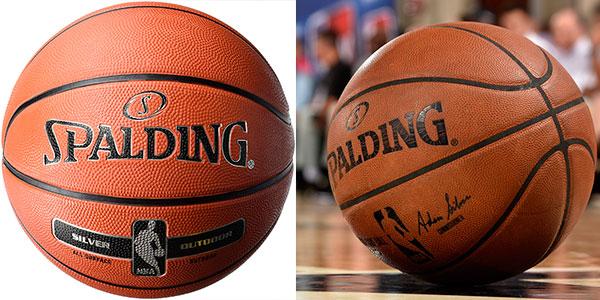 Chollo Balón de baloncesto Spalding NBA Silver Outdoor
