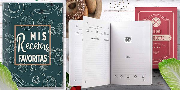 Cuaderno en blanco para recetas de cocina a muy buen precio
