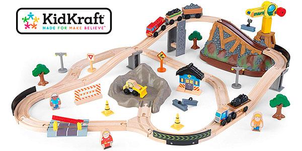 Chollo Circuito con tren de madera KidKraft para niños