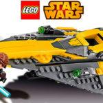 Chollo Caza estelar Jedi de Anakin de LEGO Star Wars con 2 minifiguras