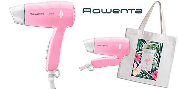 Chollo Mini secador de viaje Rowenta Pink Flamingo de 1.400 W