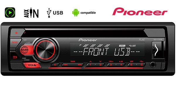 Chollo Radio CD Pioneer DEH-S110UB con USB para coche