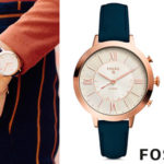 Chollo Reloj Fossil Jacqueline Navy Leather para mujer