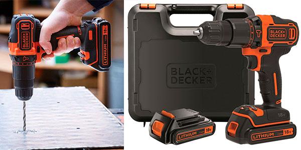 Chollo Taladro percutor Black & Decker BDCHD18K 18 V con 2 baterías y maletín