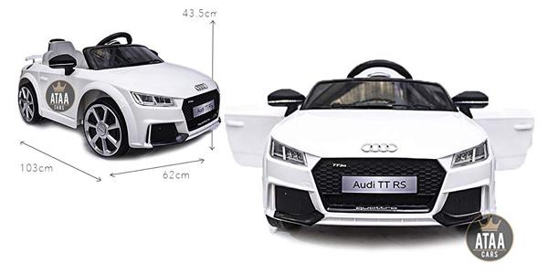 Coche eléctrico infantil Audi TT RS 12v con licencia oficial Audi barato en Amazon