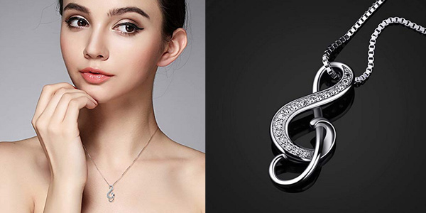 "Collar B.Catcher ""Nota musical"" en Plata de Ley 925 para mujer chollo en Amazon"