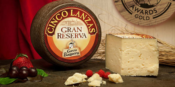 Queso Gran Reserva Cinco Lanzas García Baquero Cuña 200 gr chollo en Amazon