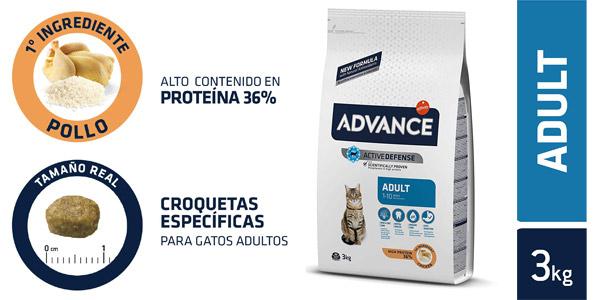 Advance Pienso para gato adulto con pollo y arroz de 3 kg barato en Amazon