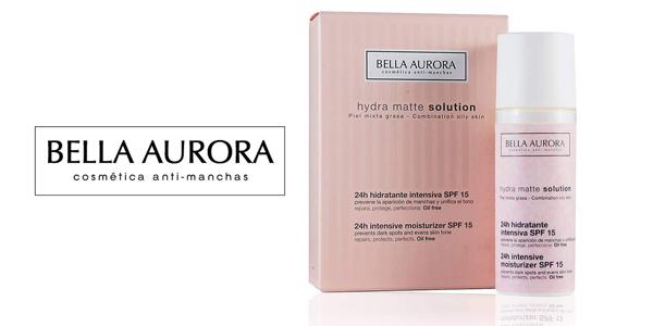 Crema facial hidratante Bella Aurora Hydra Matte Solution con SPF15 para pieles mixtas y grasas barata en Amazon