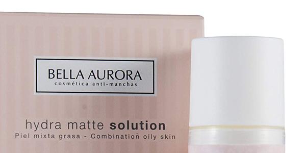 Crema facial hidratante Bella Aurora Hydra Matte Solution con SPF15 para pieles mixtas y grasas chollo en Amazon