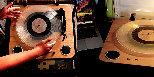 Giradiscos Ion Audio Max LP estéreo de 3 velocidades con conversor digital barato
