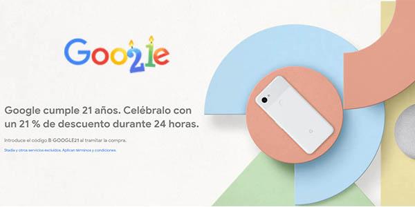 Google Store promoción 21 aniversario