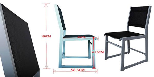 juego de sillas de exterior en aluminio Chicreat oferta