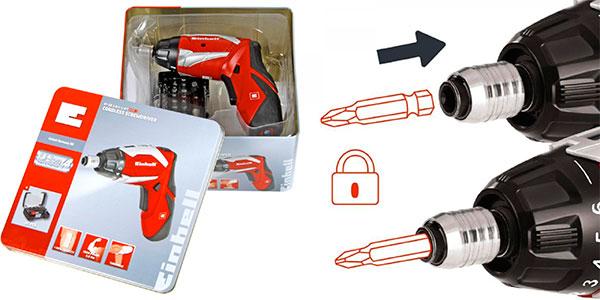 Atornillador Einhell RT-SD 3,6/2 inalámbrico con caja 32 puntas barato