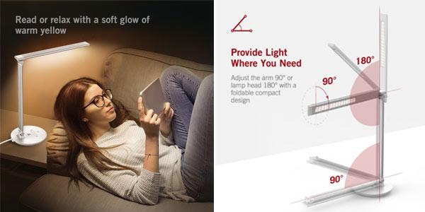 Comprar lámpara LED Taotronics TT DL034 en oferta en Amazon