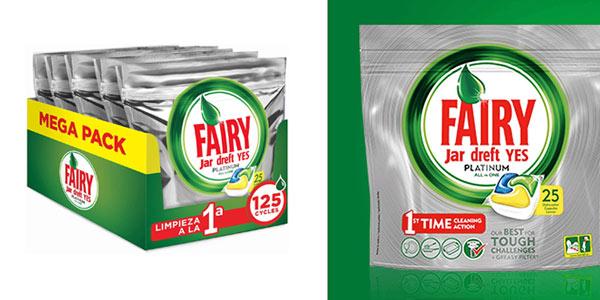 Lavavajillas Fairy Platinum Limón 125 cápsulas chollo Amazon