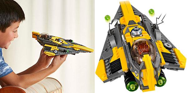 Caza estelar Jedi de Anakin de LEGO Star Wars con 2 minifiguras barato