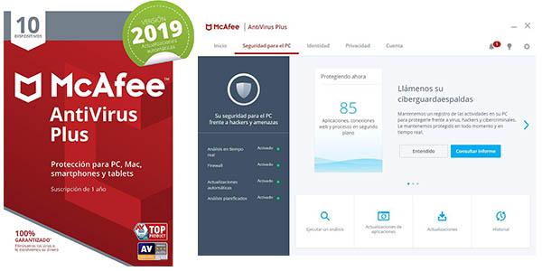 McAfee AntiVirus Plus 2019 para 10 dispositivos