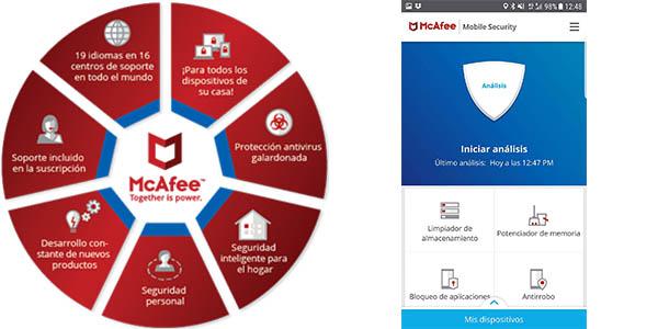 McAfee AntiVirus Plus 2019 para 10 dispositivos en Amazon