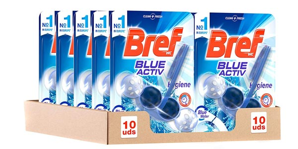 Comprar Pack x10 Colgador WC Bref Blue Activ barato en Amazon