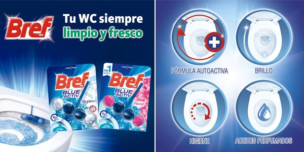 Comprar Pack x10 Colgador WC Bref Blue Activ chollo en Amazon