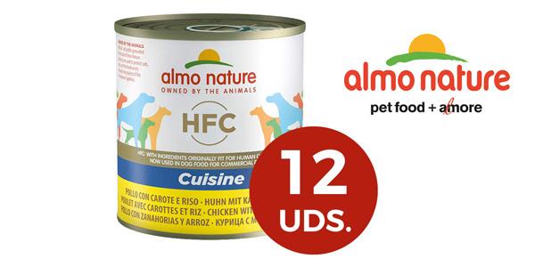 Pack x12 Almo Nature Dog HFC Cuisine Pollo, Zanahoria y Arroz de 280 g/ud barato en Amazon