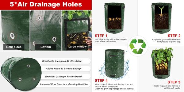 Pack x2 Bolsas de Cultivo N NEWKOIN de 38L/ud chollo en Amazon