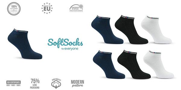 Pack x3 Calcetines unisex Softsocks de caña baja baratos en Amazon
