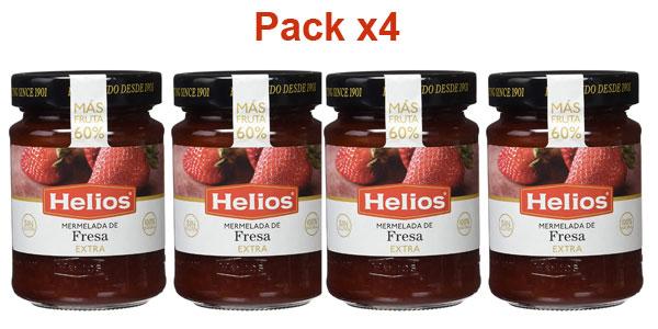 Pack x4 Helios Mermelada Extra de fresa 60% de fruta de 340 g barata en Amazon