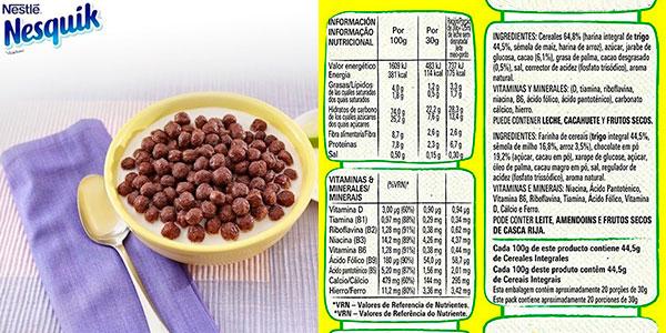 Lote de Cereales Nesquik de trigo y maíz tostados al cacao de 625 g barato