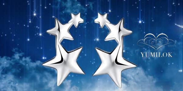 Pendientes Yumilok Estrellas pequeños de Plata de ley 925 chollazo en Amazon