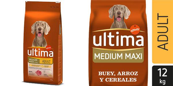 Ultima Pienso para Perros Medium-Maxi Adulto con Buey 12 kg barato en Amazon