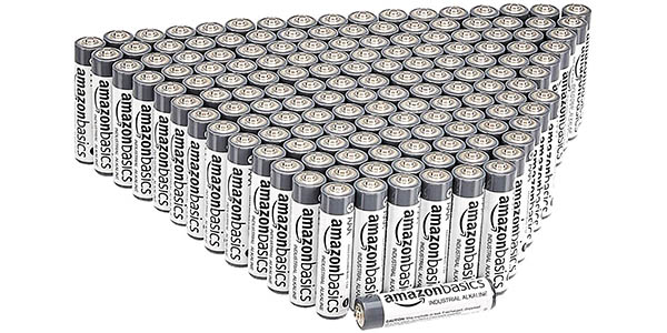Pack x200 Pilas alcalinas AAA AmazonBasics de uso industrial
